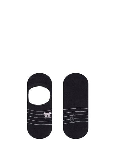 Mavi  Babet Çorabı Siyah